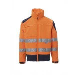 Payper Wear Giacca Soft-Shell Screen alta visibilità Arancione/Blu