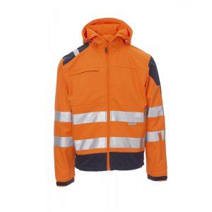 Payper Wear Giacca Softshell Shine alta visibilità Arancione/Blu