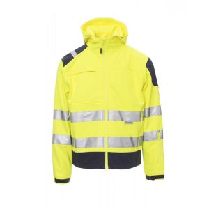 Payper Wear Giacca Softshell Shine alta visibilità Giallo/Blu
